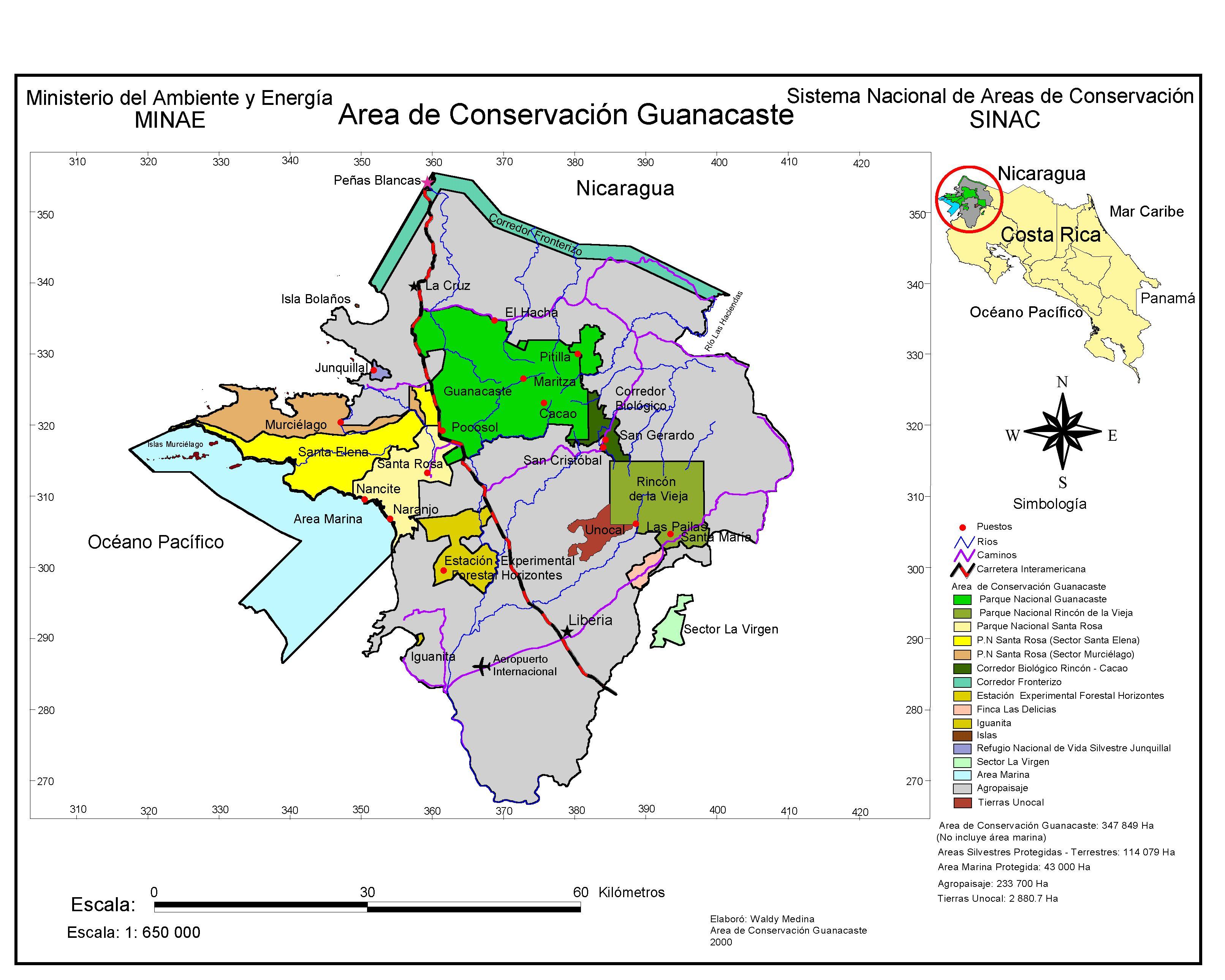 Worksheet. Sistemas de Informacin Geogrfica  rea de Conservacin Guanacaste